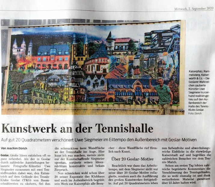 GS-Beitrag zum Kunstwerk an der Tennishalle