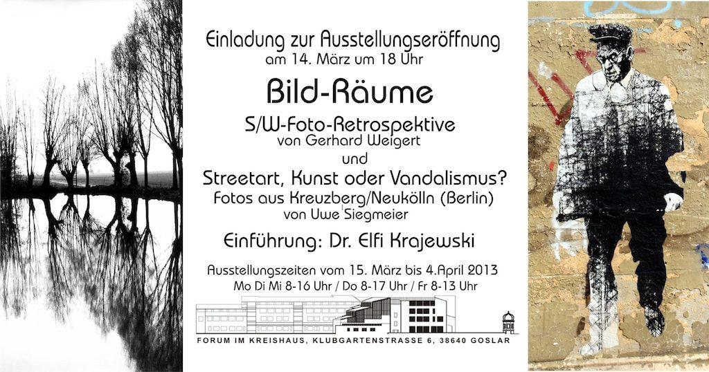 Ausstellung Streetart, Kunst, Vandalismus 2013